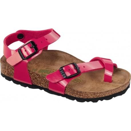 new style 2ca39 bc6e7 BIRKENSTOCK sandali infradito cinturino attorno alluce TAORMINA vernice  LACK PINK fuxia
